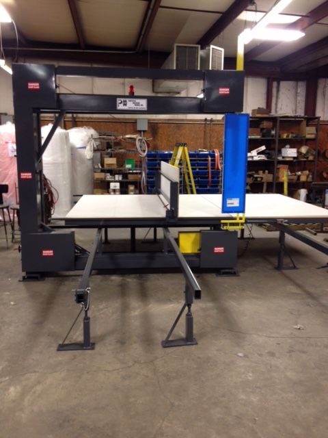Vertical Foam Band Saw Pontotoc Machine Works Usa Made