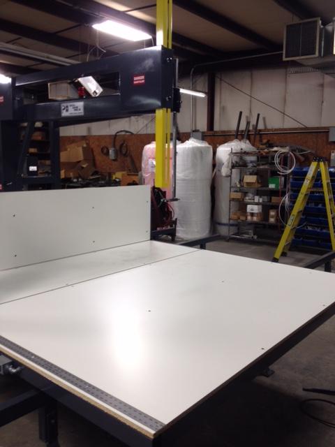 Vertical Foam Band Saw Pontotoc Machine Works Usa Made
